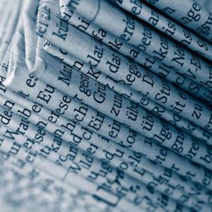 Das Foto zeigt einen Stapel Zeitungen.